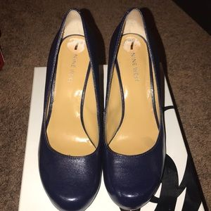 Size 7 Navy Blue Wedges